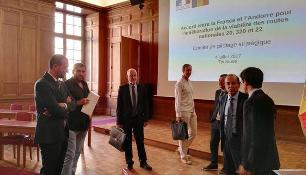 El comitè estratègic Andorra-França per a la millora de carreteres s'ha reunit avui per primer cop.
