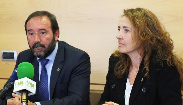 Els consellers de Liberals d'Andorra+Independents (LdA+I), Jordi Troguet i Maria Isabel Lafoz.