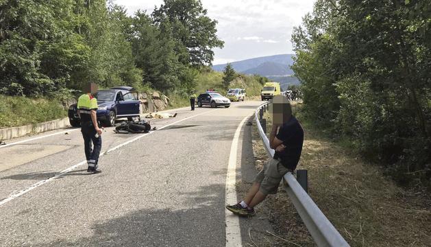L'accident d'ahir a la tarda a l'N-260.
