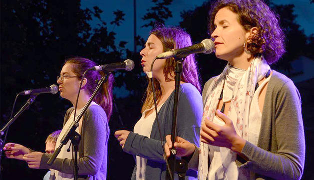 El trio de veus femenines format a Girona.