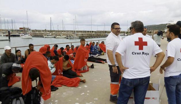 L'embarcació va ser rescatada prop de Trafalgar.