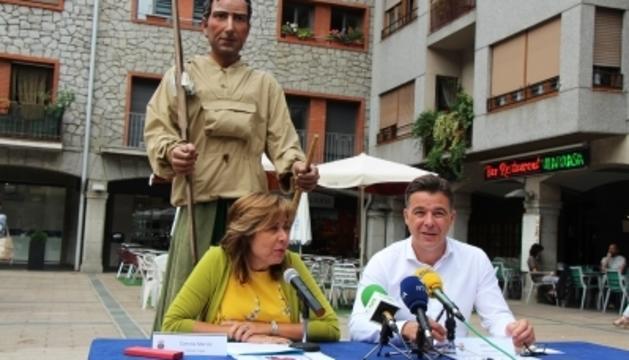 Conxita Marsol i Marc Pons a la presentació de la Festa Major d'Andorra la Vella