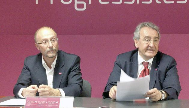Naudi i Bartumeu a la seu d'SDP.