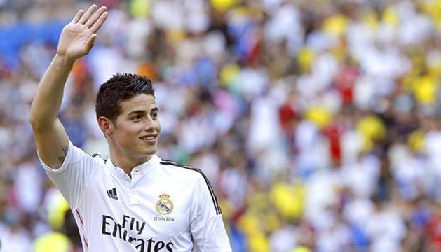 James Rodríguez amb la samarreta del Reial Madrid.