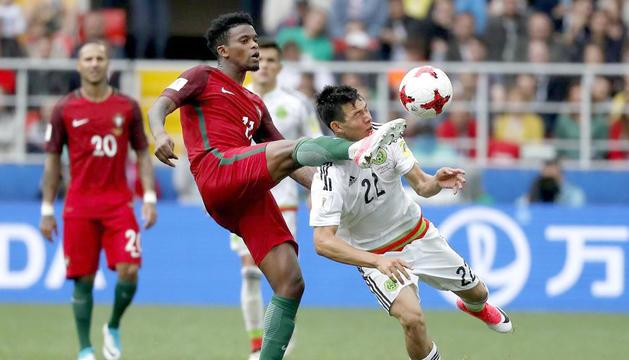 Nélson Semedo al duel de la Copa Confederacions disputat contra Mèxic.