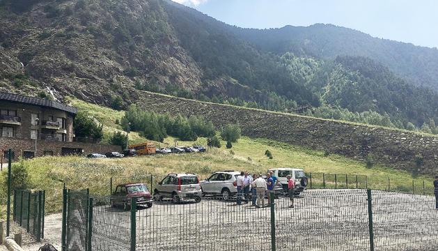 El nou aparcament compta amb una trentena de places.