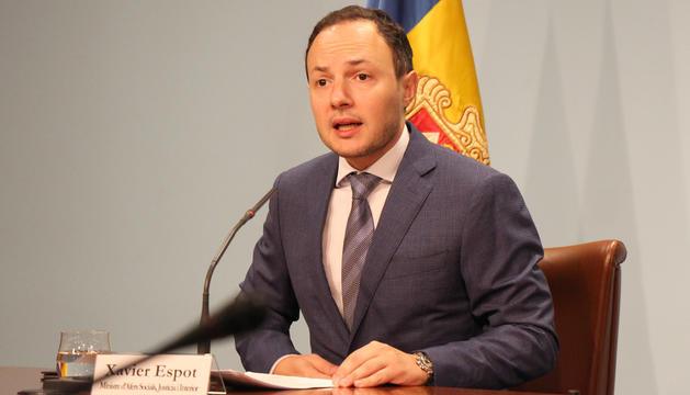 El ministre portaveu d'aquest dimecres, Xavier Espot.