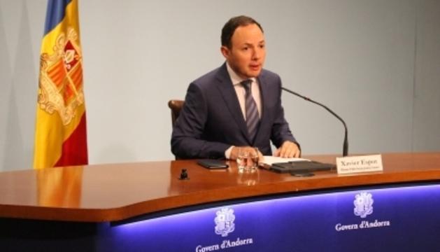 El ministre d'Afers Socials, Justícia i Interior, Xavier Espot