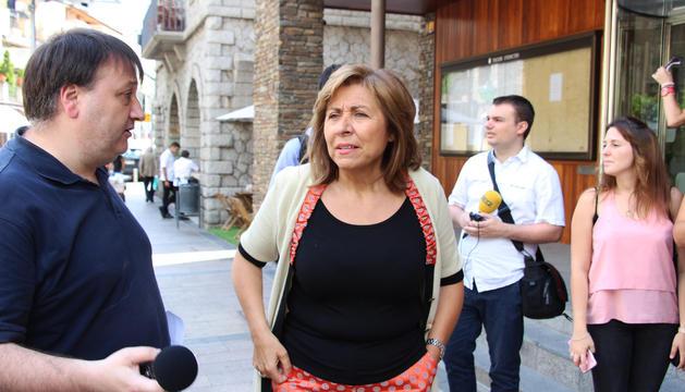 La cònsol major d'Andorra la Vella, Conxita Marsol