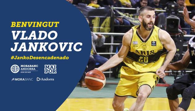 La imatge de benvinguda de Jankovic al Morabanc
