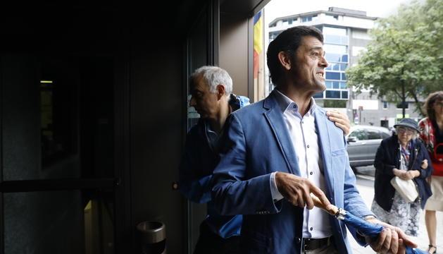 El cònsol major d'Ordino, Josep Àngel Mortés, i l'accionista majoritari de Saetde, Joan Viladomat
