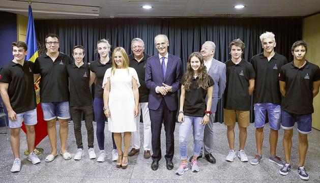 Recepció prèvia al Festival Olímpic de la Joventut