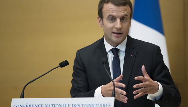 El president francès, Emmanuel Macron, en una imatge d'aquest cap de setmana.