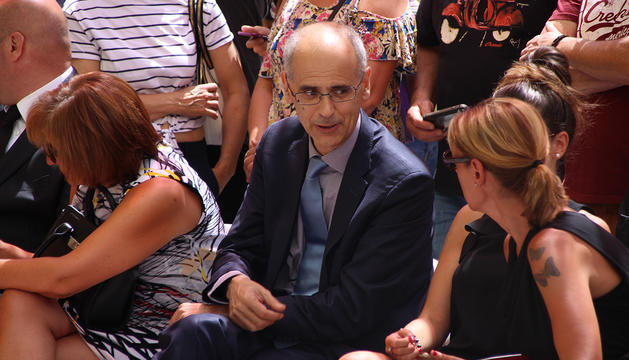 El cap de Govern, Toni Martí, durant la celebració de la festivitat de Santa Anna.
