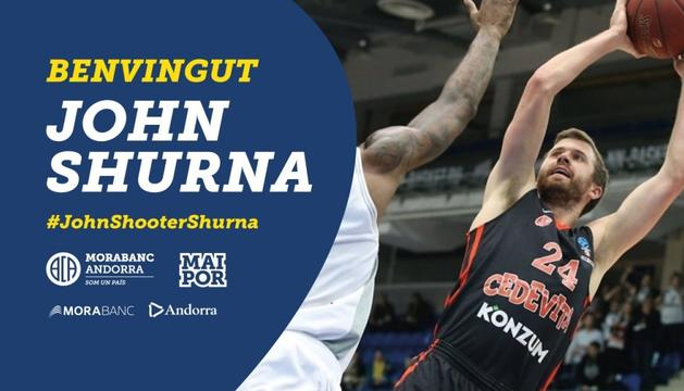 John Shurna, pólvora per al MoraBanc Andorra