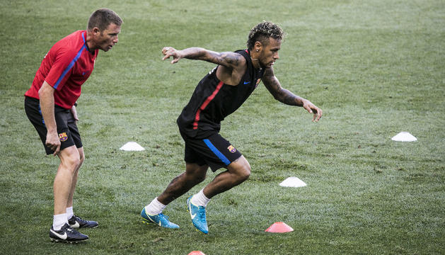 Neymar, en un entrenament.