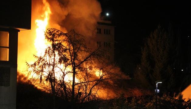 Un incendi a la Borda Pairal.