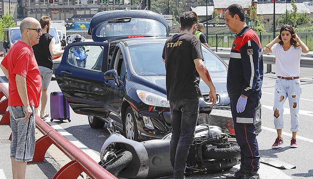 Un dels accidentes va tenir lloc a l'avinguda Salou.