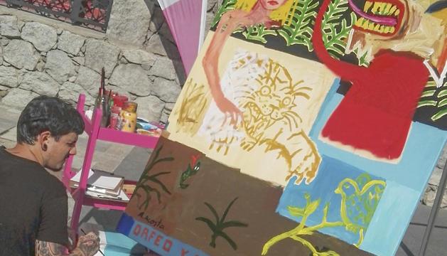 Exhibició de l'artista Alejandro Ferrer.