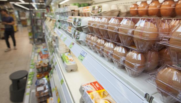 Ous als supermercats de Hong Kong, que també s'ha vist afectat per l'escàndol.