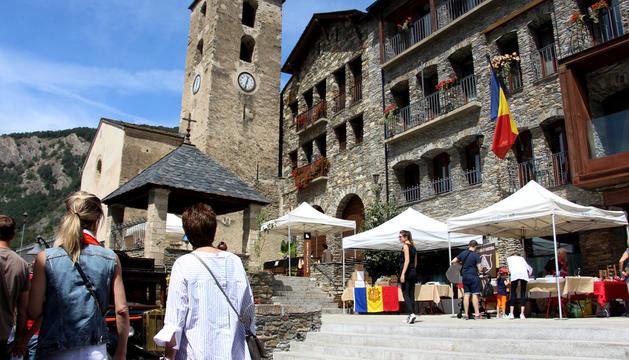El mercat artesanal.