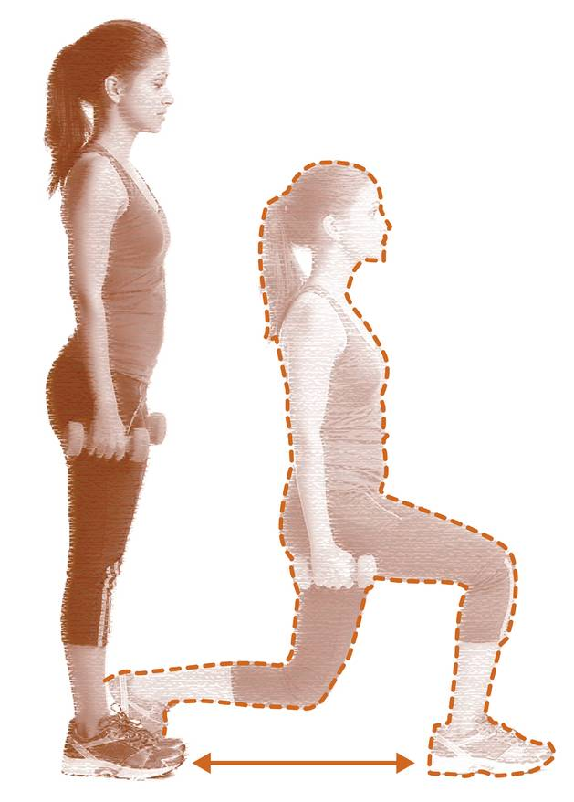 3. Lunge lateral