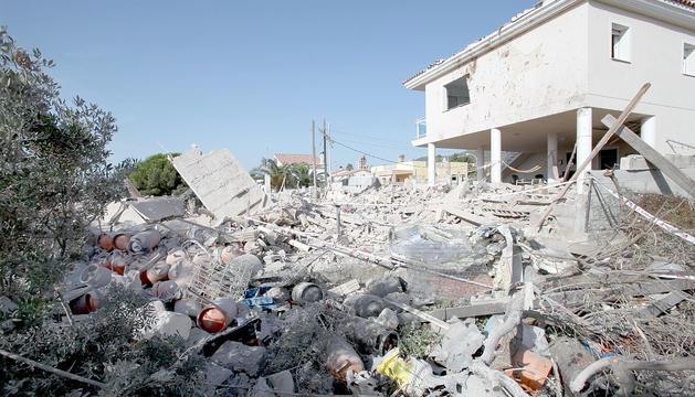 Estat en el qual va quedar l'immoble on es va produir l'explosió.