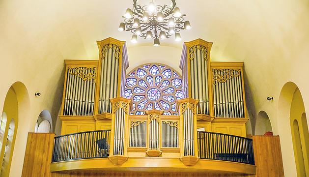 L'orgue de l'església Sant Esteve.