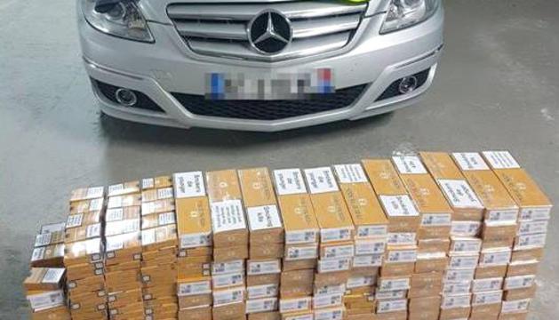 La guàrdia civil intervé 1.500 paquets de tabac