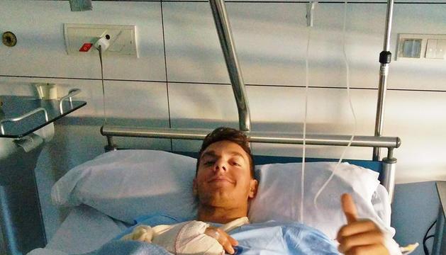 Xavi Cardelús a l'hospital.