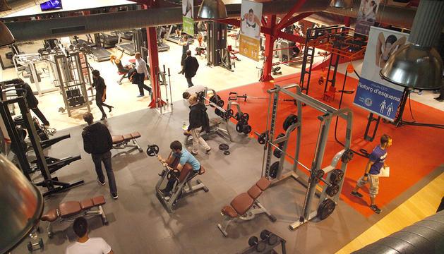 El gimnàs del centre esportiu d'Ordino.