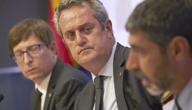 El conseller d'Interior, Joaquim Forn, i el major dels mossos, Josep Lluís Trapero.