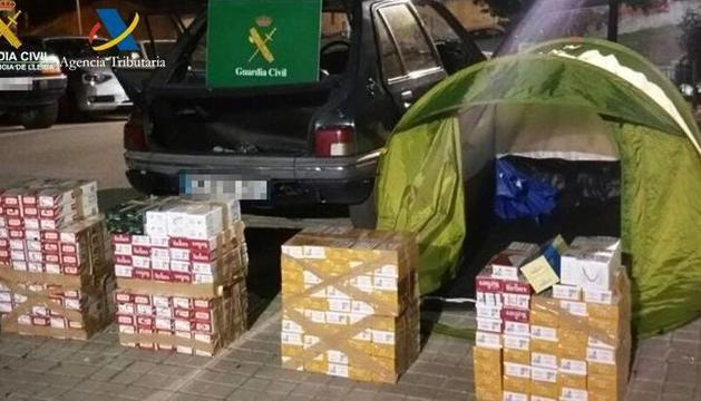La mercaderia comissada per la guardia civil.