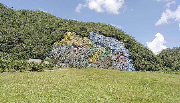 El mural de la prehistòria de Viñales, a Cuba.