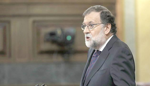 Mariano Rajoy, ahir al Congrés dels Diputats.