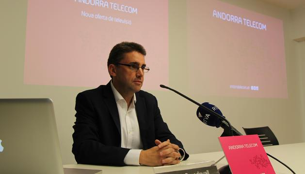 El director de Negociació Estratègica d'Andorra Telecom, Carles Casadevall.