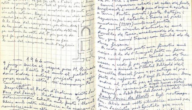 Fragment del llibre d'anotacions.