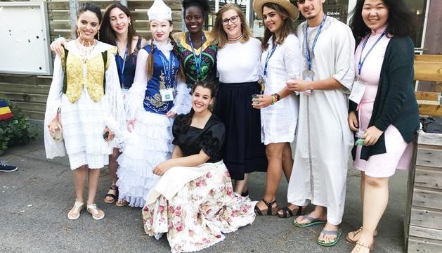 L'Andrea Teixeira va conviure amb una quarentena de joves de 33 països diferents.