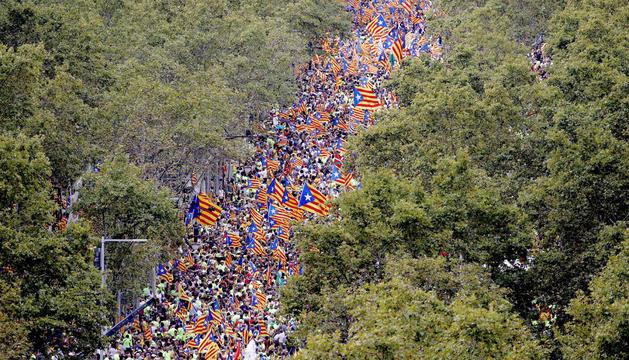 La cruïlla de passeig de Gràcia amb Aragó va ser l'epicentre de la manifestació.
