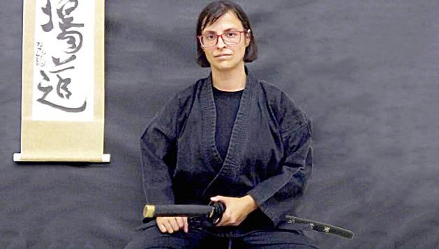 Vanessa Mendoza practica el Budo Taijutsu.