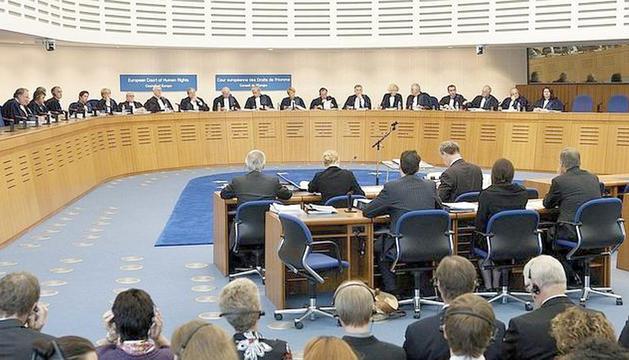 Una vista al Tribunal Europeu dels Drets Humans.