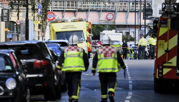 Els equips d'emergències de Londres