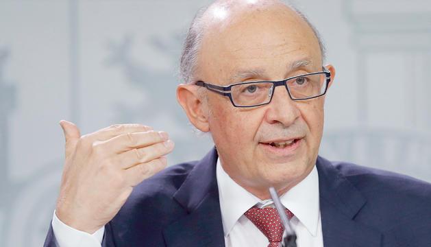 El ministre espanyol d'Hisenda, Cristóbal Montoro, en una imatge d'arxiu.