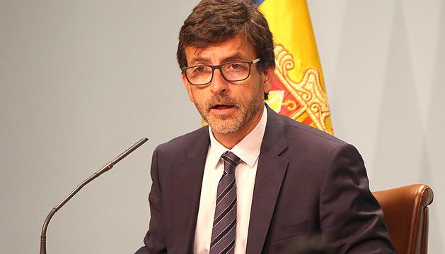 El ministre portaveu, Jordi Cinca, avui en roda de premsa.