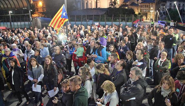 Concentració per les detencions a Catalunya
