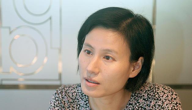 La presidenta de l'Associació Andorrana Amics de la Xina, Qian Wang.