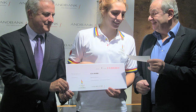 Premi de 4.000 euros a la medallista Léa Adam