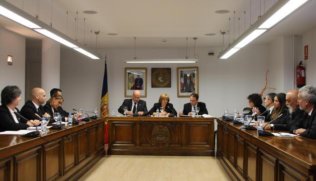 Un moment del consell del comú d'Escaldes-Engordany.