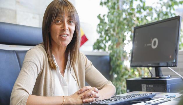 Gemma Riba, cònsol menor d'Ordino, al despatx.