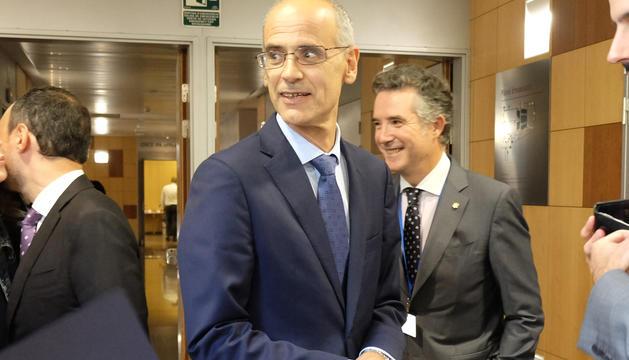 El cap de Govern, Toni Martí, i el síndic general, Vicenç Mateu.